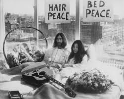 occupy John and yoko bed in