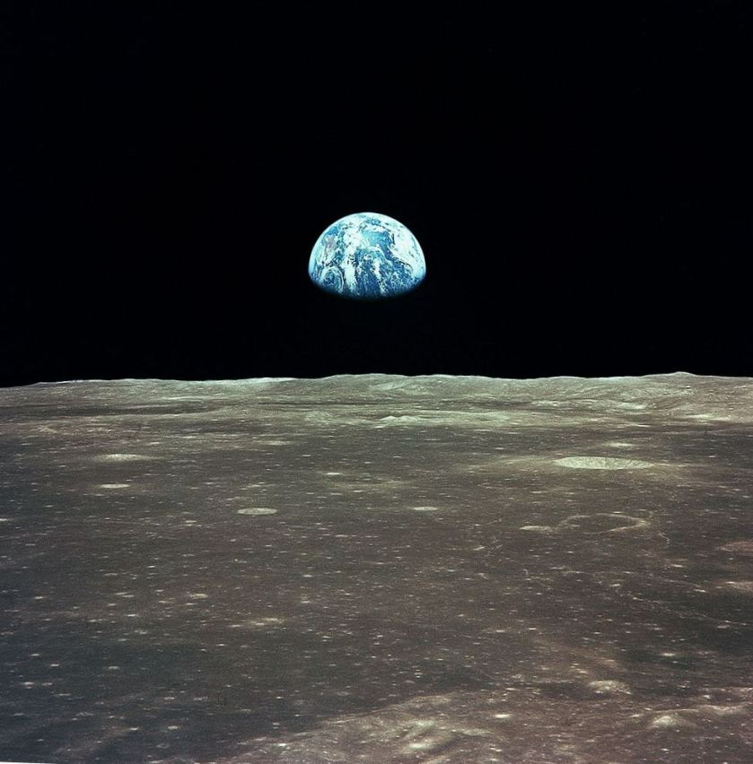 unity earth from moon
