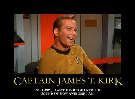 Captain James T. Kirk--egotist in space
