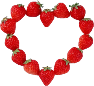 strawberry-heart in public domain