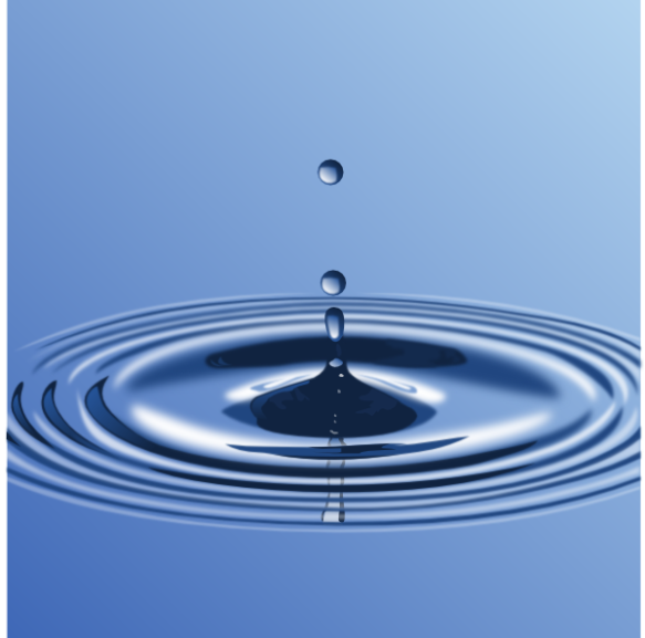 water-drop-with-ripple-in public domain