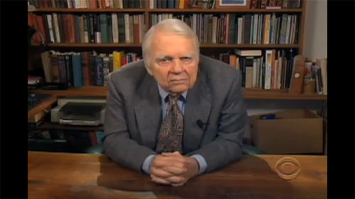 Andy Rooney at desk