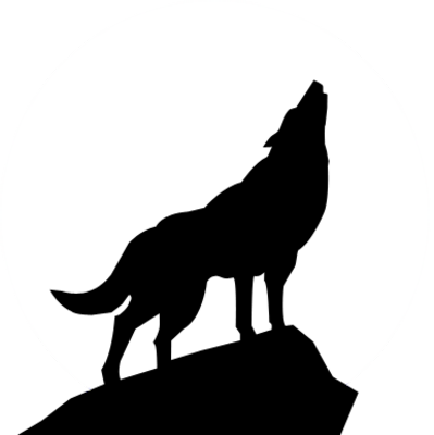 black dog howling