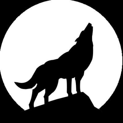 black dog howling