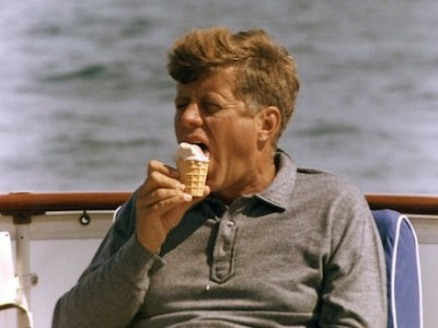 John F. Kennedy says that comedy is harder than going to the moon and Boy, this ice cream GOOD!