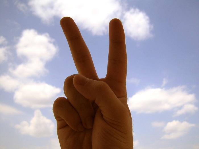 peace sign in public domain
