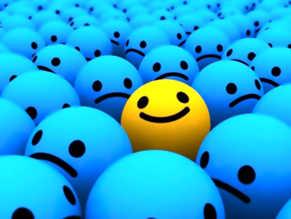 positive-attitude happy face
