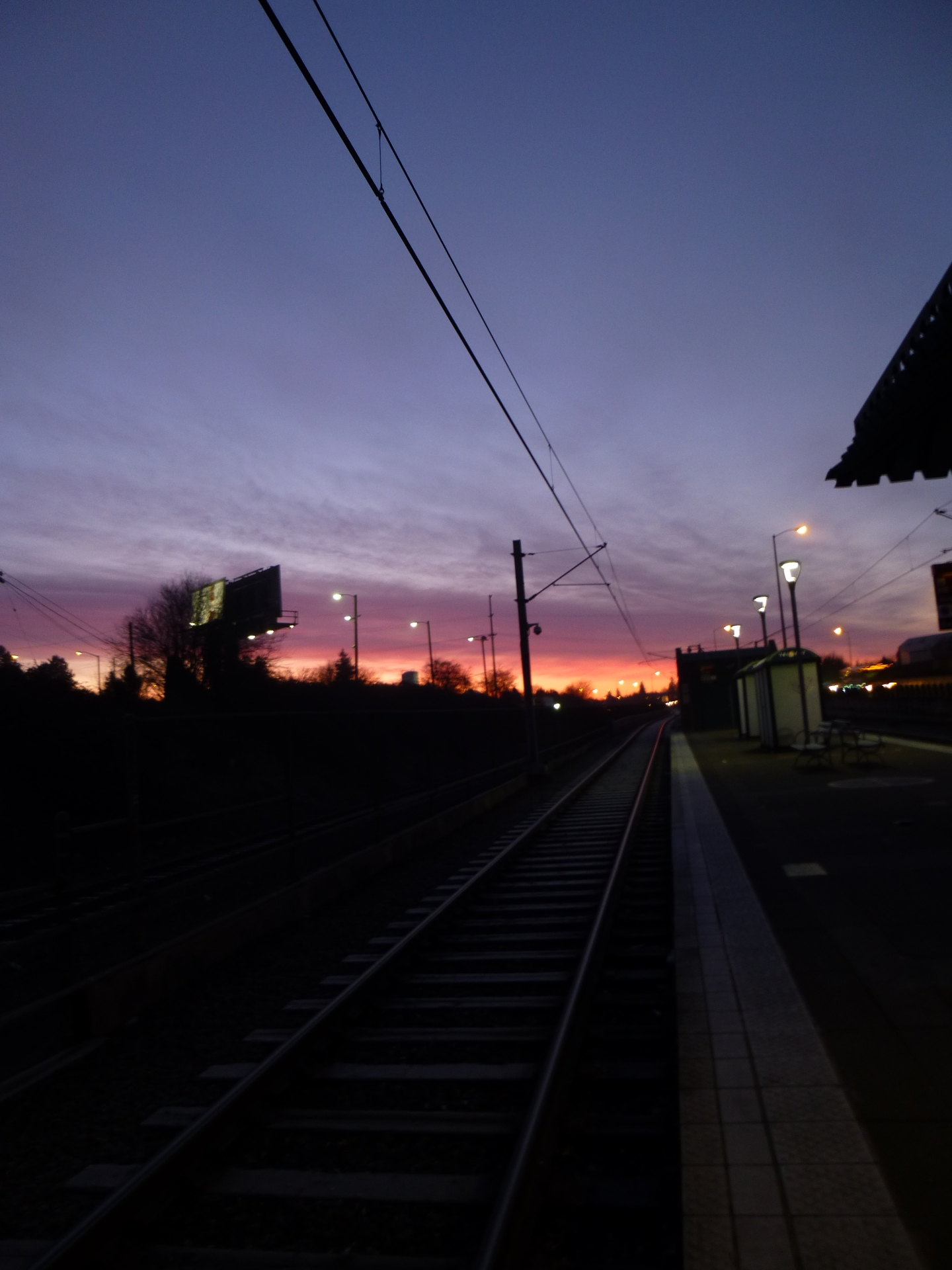 Max station at sunrise