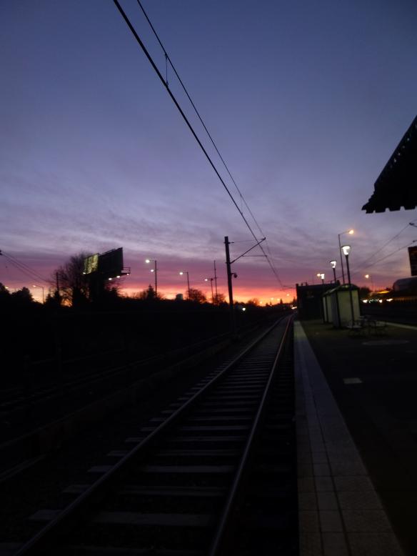 Max station at sunrise