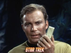 Captain Kirk on hiscommunicator