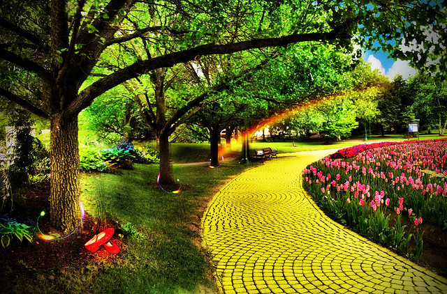 neighborhood yellow brick road