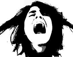 screaming woman in public domain