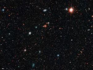 glass space stars black