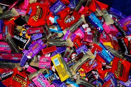 halloween candy pile