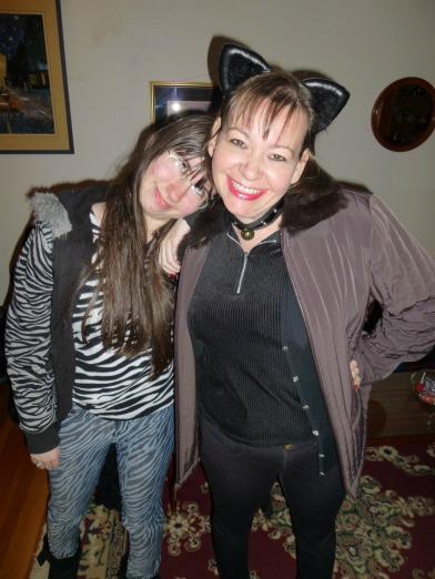 Nancy and Sara on Halloween 2