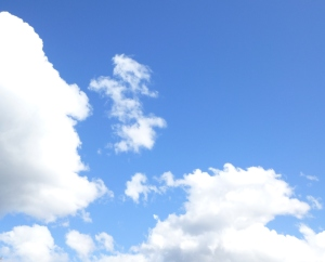 up big blue skies