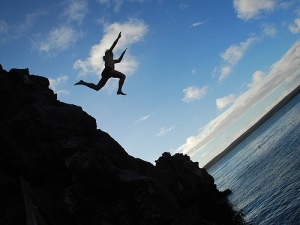 Jump off cliffs