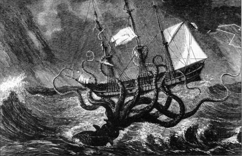 My mind is the octopus. The ship is logic. Let's see who wins out?