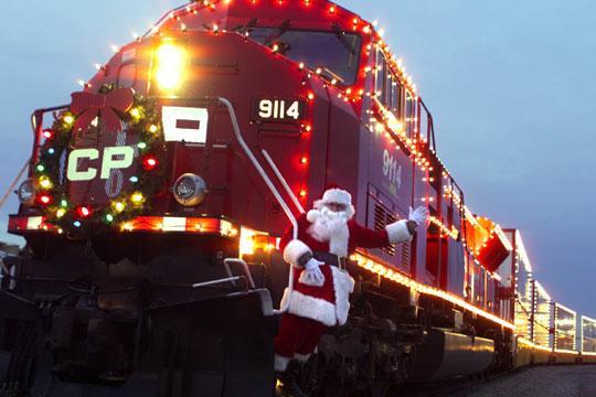 christmas santa train
