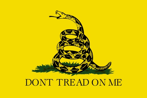 Don't tread on me revolution flag snake