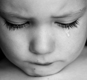 tears boy in public domain