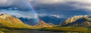 Rainbow at Denali National Park and Preserve. Alaska, USA