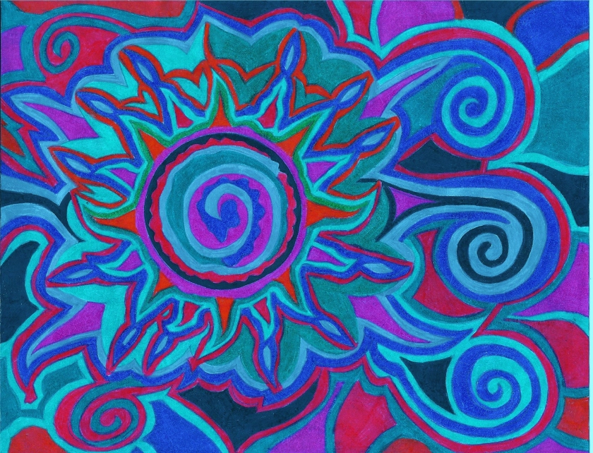 My Colorful Imagination. in Colored pencil by N.L McKinley