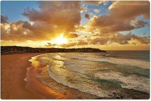 golden-sunrise sun beach