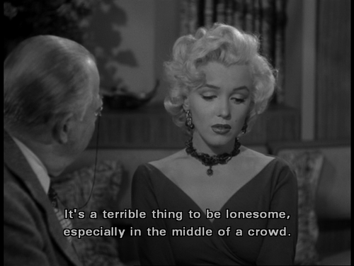 quote lonesome in a crowd marilyn monroe