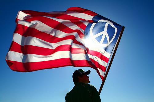 hopepeace american flag peace