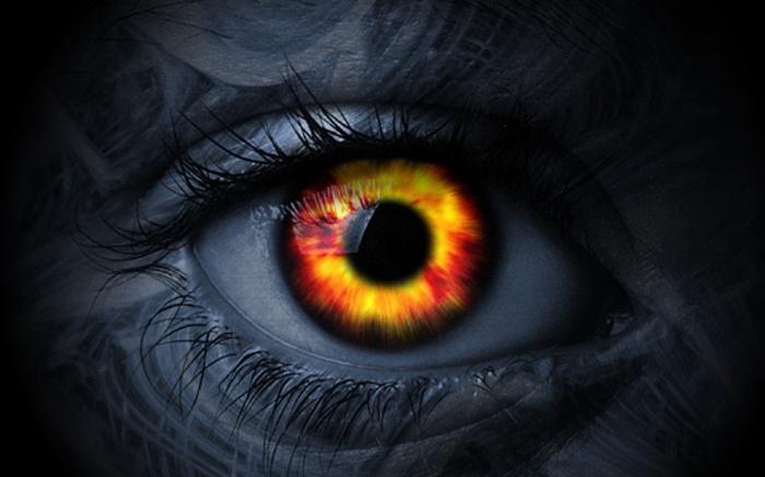 eye evil dark scare fear