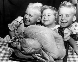 vintage thanksgiving kids turkey yum