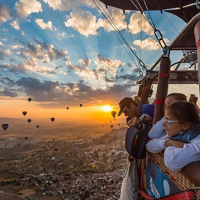 Balloon flights in Turkey optimism sunrise happy sky