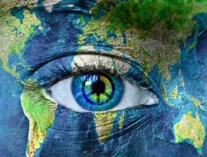 peace earth eye