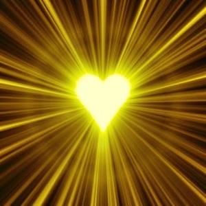 Spiritual Sun  heart art radiate love