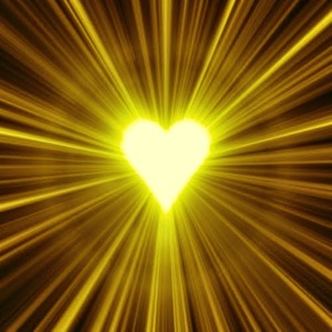 Spiritual Sun  heart art radiate love