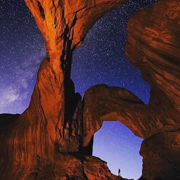 Arces Natural Park Utah USA night sky rock vista star