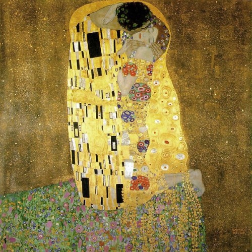Gustav Klimt's The KISS art