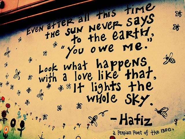 Hafiz quote Persian_Poet_  Love