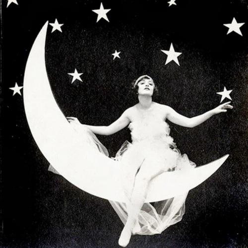 moon vintage woman