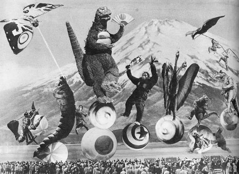 art odd weird strange godzilla monsters