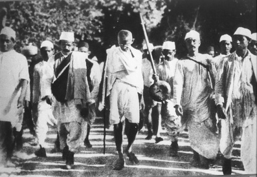 Salt March led by Gandhi, India, 1930