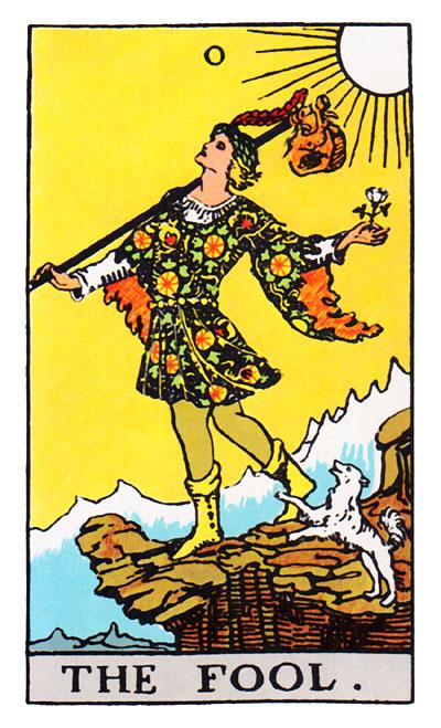 tarot card the fool