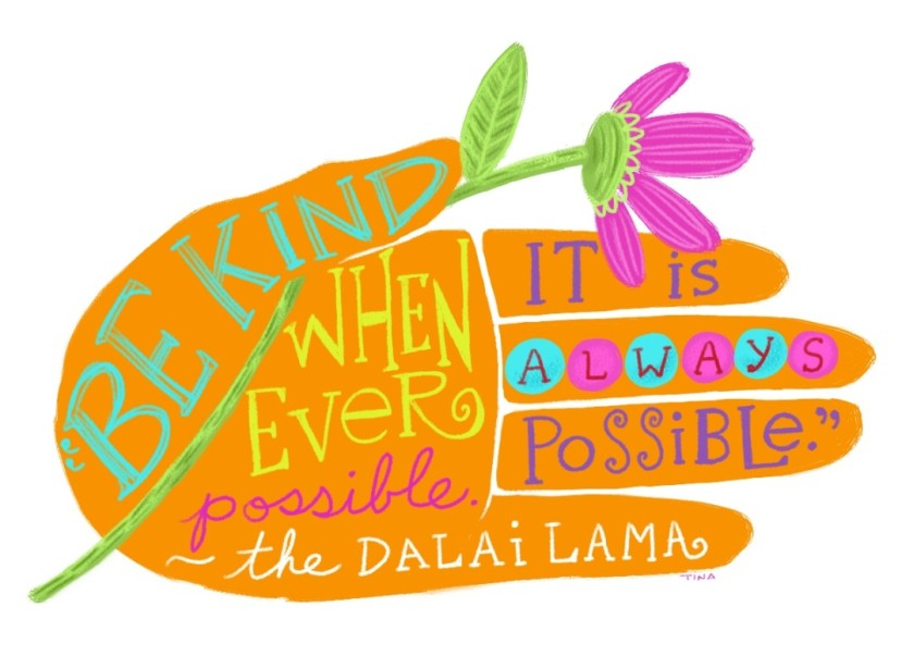 kindness quote dalai lama art