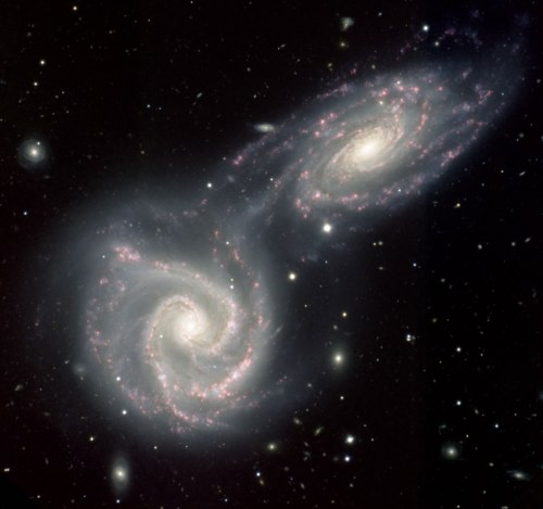 spiral space galaxies 2 pair
