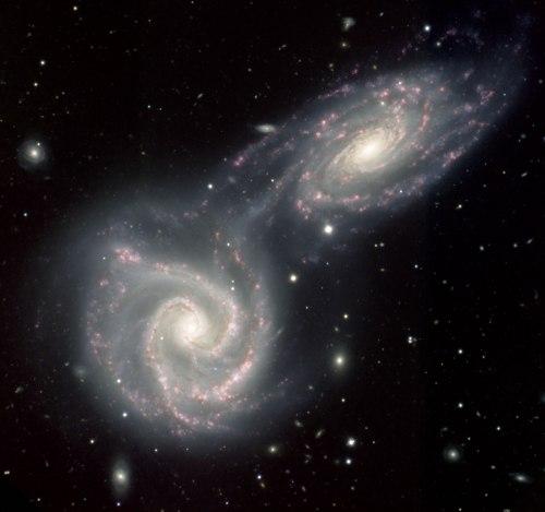 spiral space galaxies 2 pair