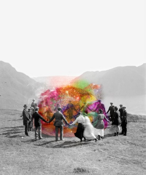 random-people-art-psychedelic-group-color-trippy