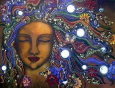 art woman blue