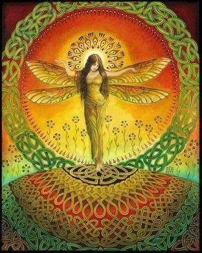 dragonfly woman art